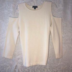 Anne Taylor cold shoulder sweater top